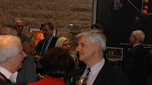 Mithat Pasic with guests at Colours of a Woman Art Show, Ottawa 2013