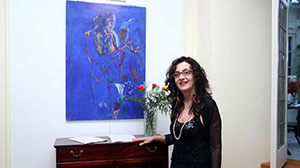 Marina with blue painting, Serbian Embassy 05.03.14