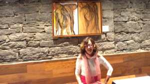 Marina's Paintings at Steakhouse Village, Montreal